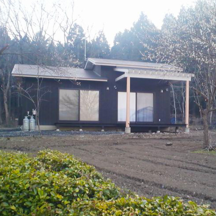 平屋のセカンドハウスの外観