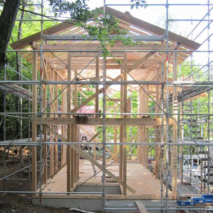 セカンドハウスの基礎工事