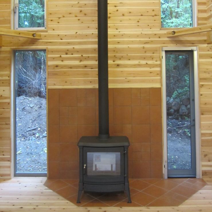セカンドハウスの暖炉