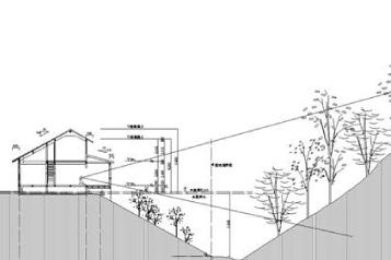 風景を切り取る家 図面