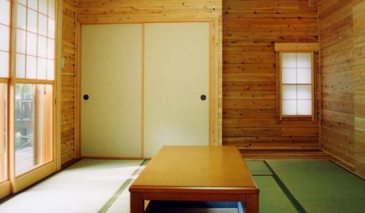 ログハウス内装,和室